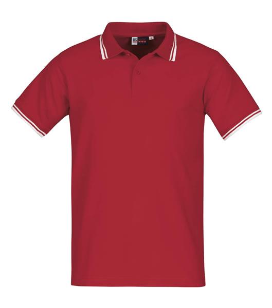 Koszulki Polo US 3110047 Polo Erie - 3110047_czerwony_biały_US - Kolor: Czerwony / Biały