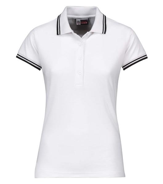 Koszulki Polo Ladies US 3109947 Polo Erie Damskie - 3109947_biały_czarny_US - Kolor: Biały / Czarny