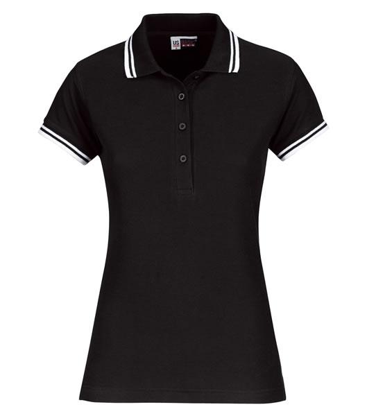 Koszulki Polo Ladies US 3109947 Polo Erie Damskie - 3109947_czarny_biały_US - Kolor: Czarny / Biały