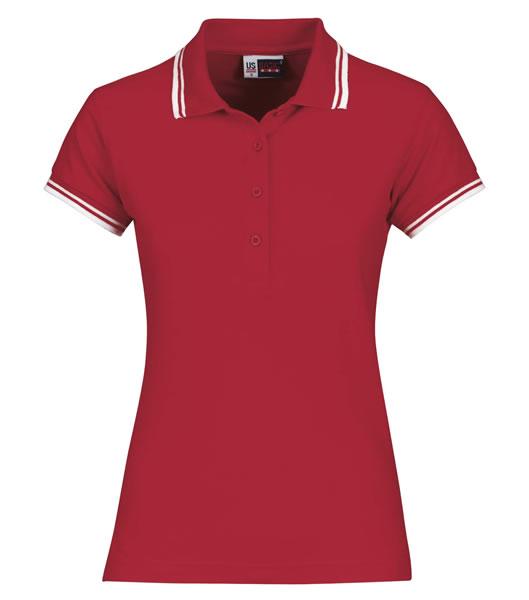 Koszulki Polo Ladies US 3109947 Polo Erie Damskie - 3109947_czerwony_biały_US - Kolor: Czerwony / Biały