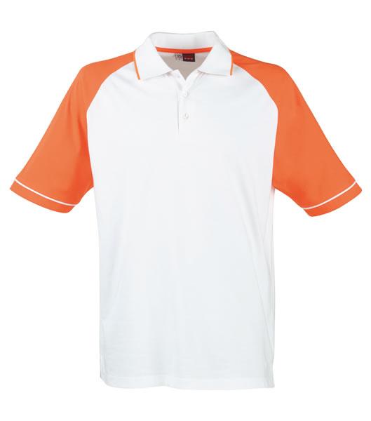 Koszulki Polo US 3108133 Polo Sydney Reglan - 3108133_biały_pomarańczowy_US - Kolor: Biały / Pomarańczowy