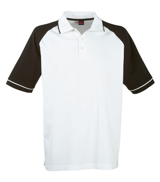 Koszulki Polo US 3108133 Polo Sydney Reglan - 3108133_biały_czarny_US - Kolor: Biały / Czarny