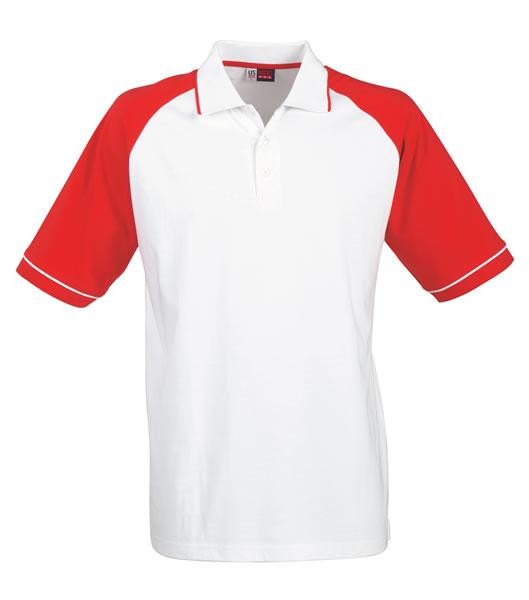 Koszulki Polo US 3108133 Polo Sydney Reglan - 3108133_biały_czerwony_US - Kolor: Biały / Czerwony