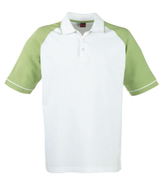 Koszulki Polo US 3108133 Polo Sydney Reglan - 3108133_biały_zielony_US - Kolor: Biały / Zielony