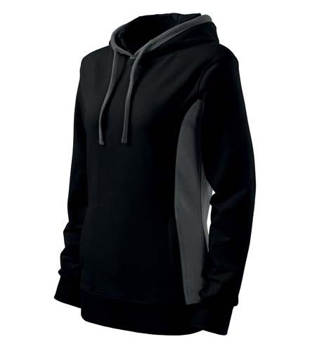 Bluza damska  A 408 Kangaroo - 408_01_C - Kolor: Czarny