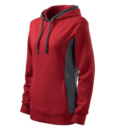 Bluza damska  A 408 Kangaroo - 408_07_C - Kolor: Czerwony