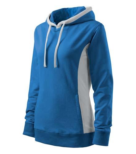 Bluza damska  A 408 Kangaroo - 408_14_C - Kolor: Lazurowy