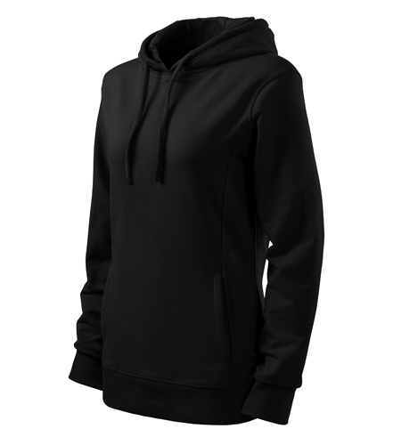 Bluza damska  A 408 Kangaroo - 408_bb_C - Kolor: Black / Black