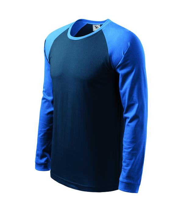 Koszulka Street 130 LS - A 130_02_14 - Kolor: Granatowy / Lazurowy