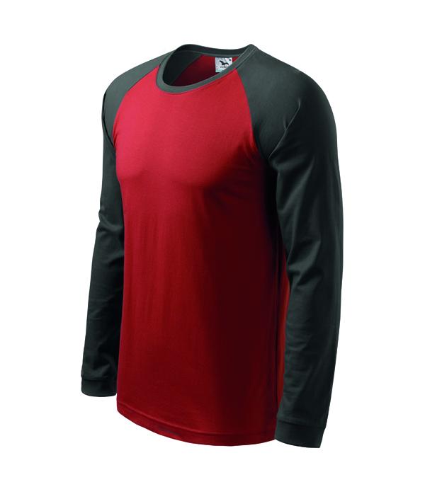 Koszulka Street 130 LS - A 130_23_67 - Kolor: Marlboro czerwony / Stalowy