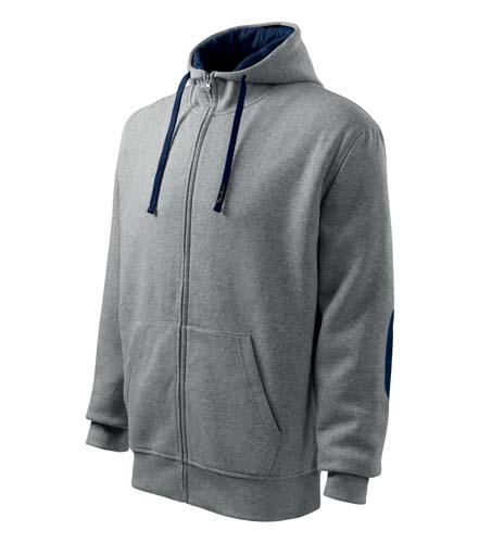 Bluza Malfini A 450 Hoodie - 450_74 C - Kolor: Grey melange/ombre blue