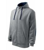 Bluza Malfini A 450 Hoodie - 450_74 C Grey melange/ombre blue
