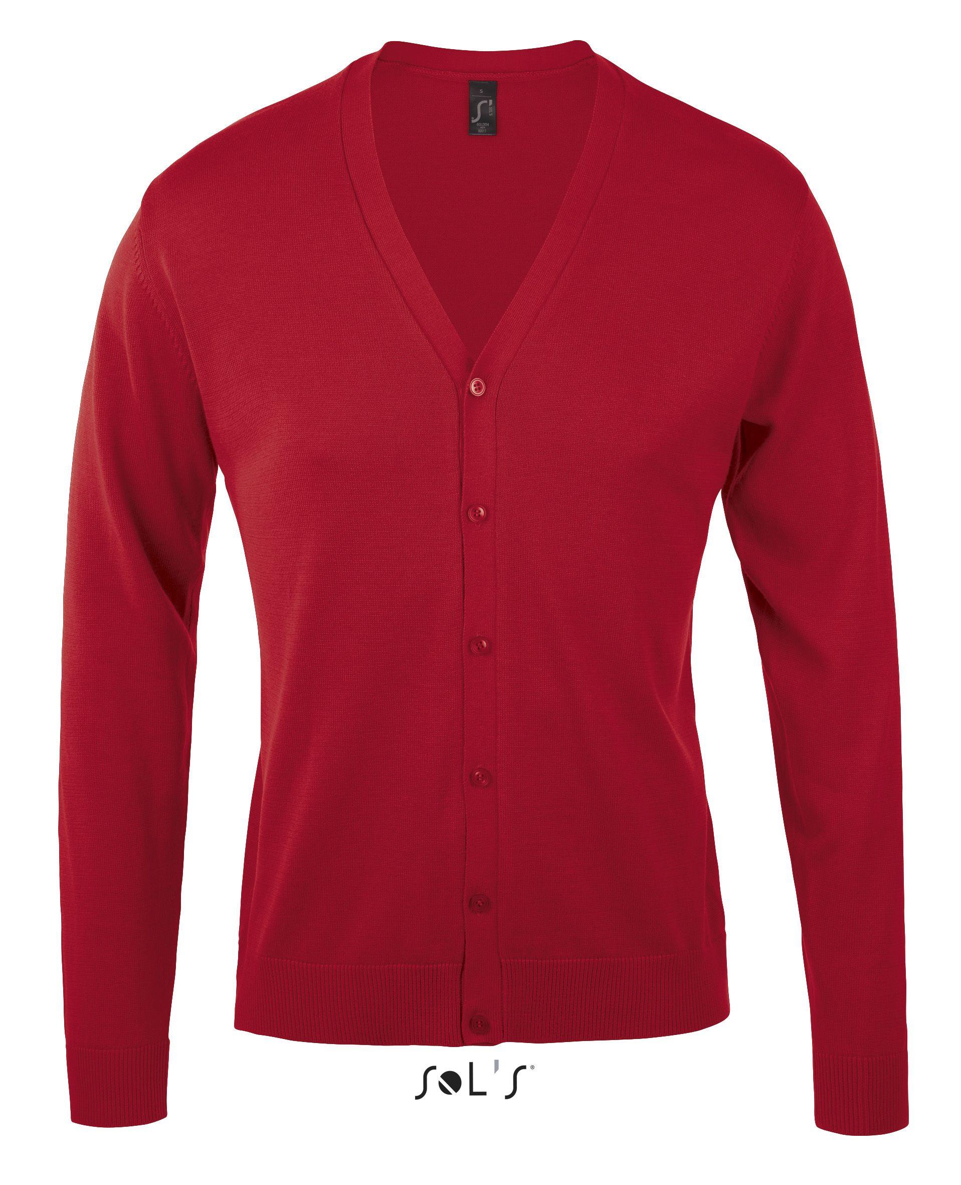 Sweter S 90011 Golden Men - 90011_red_S - Kolor: Red
