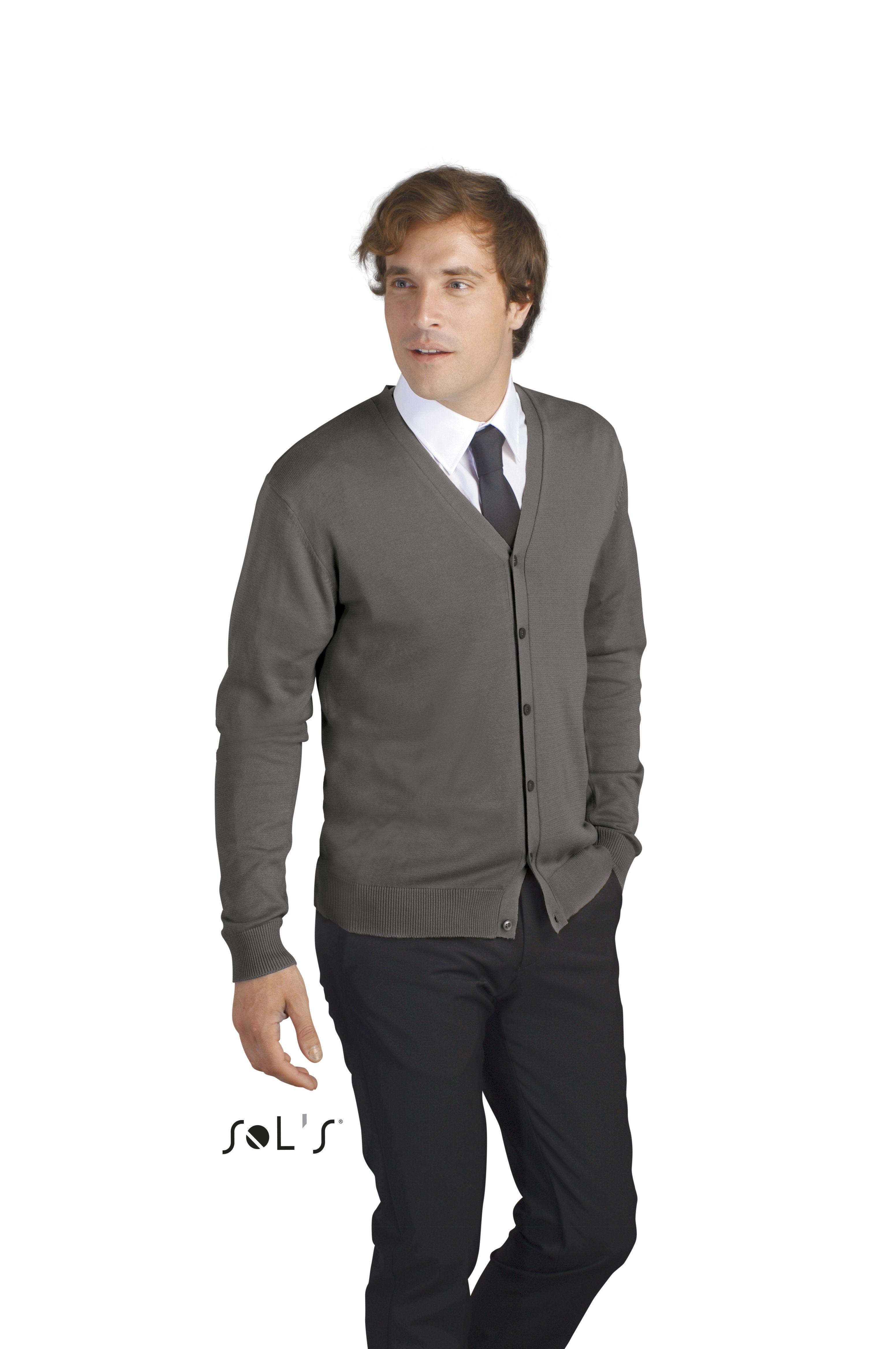 Sweter S 90011 Golden Men - 90011_medium grey_S - Kolor: Medium grey