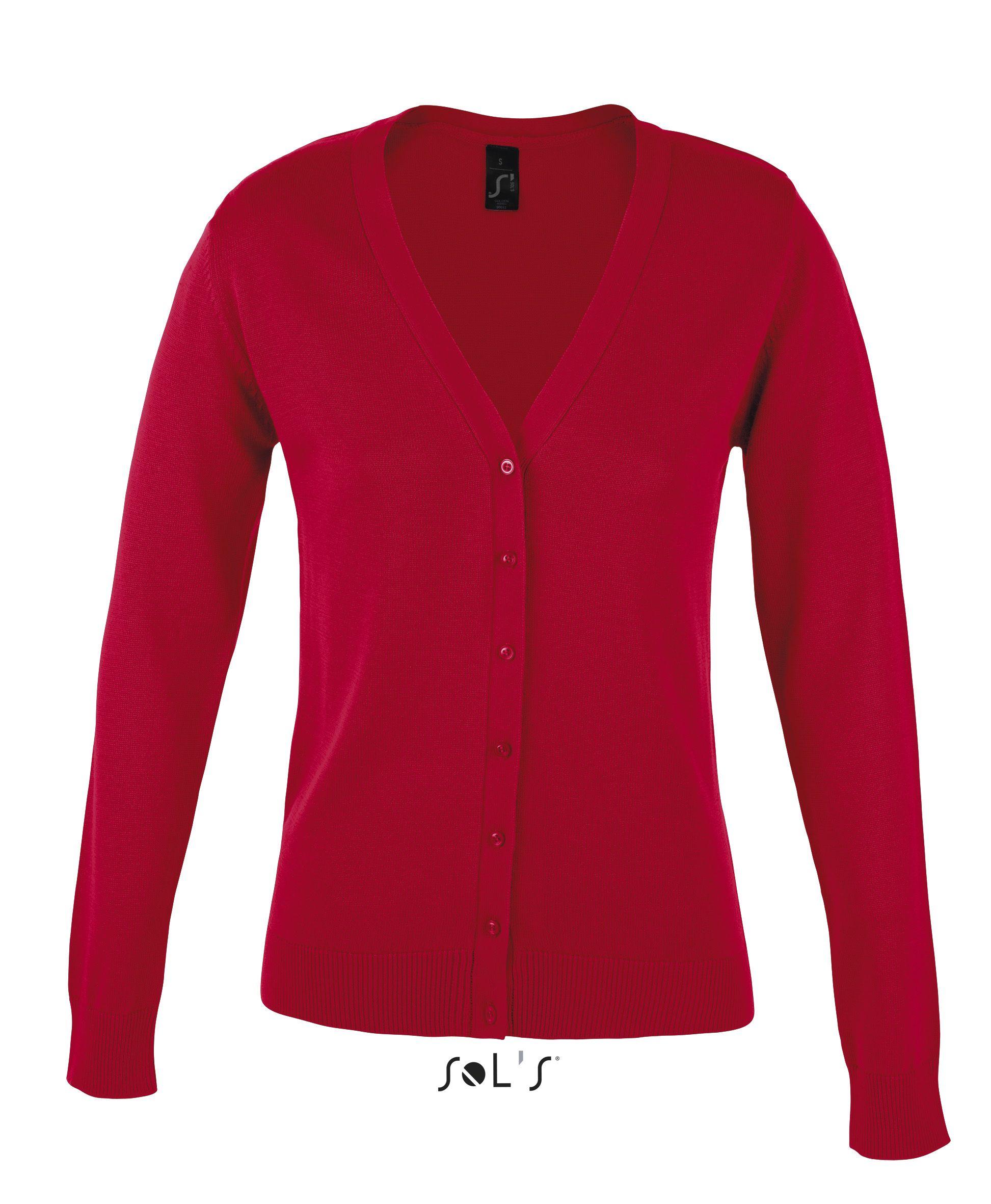 Sweter S 90012 Golden Women - 90012_red_S - Kolor: Red