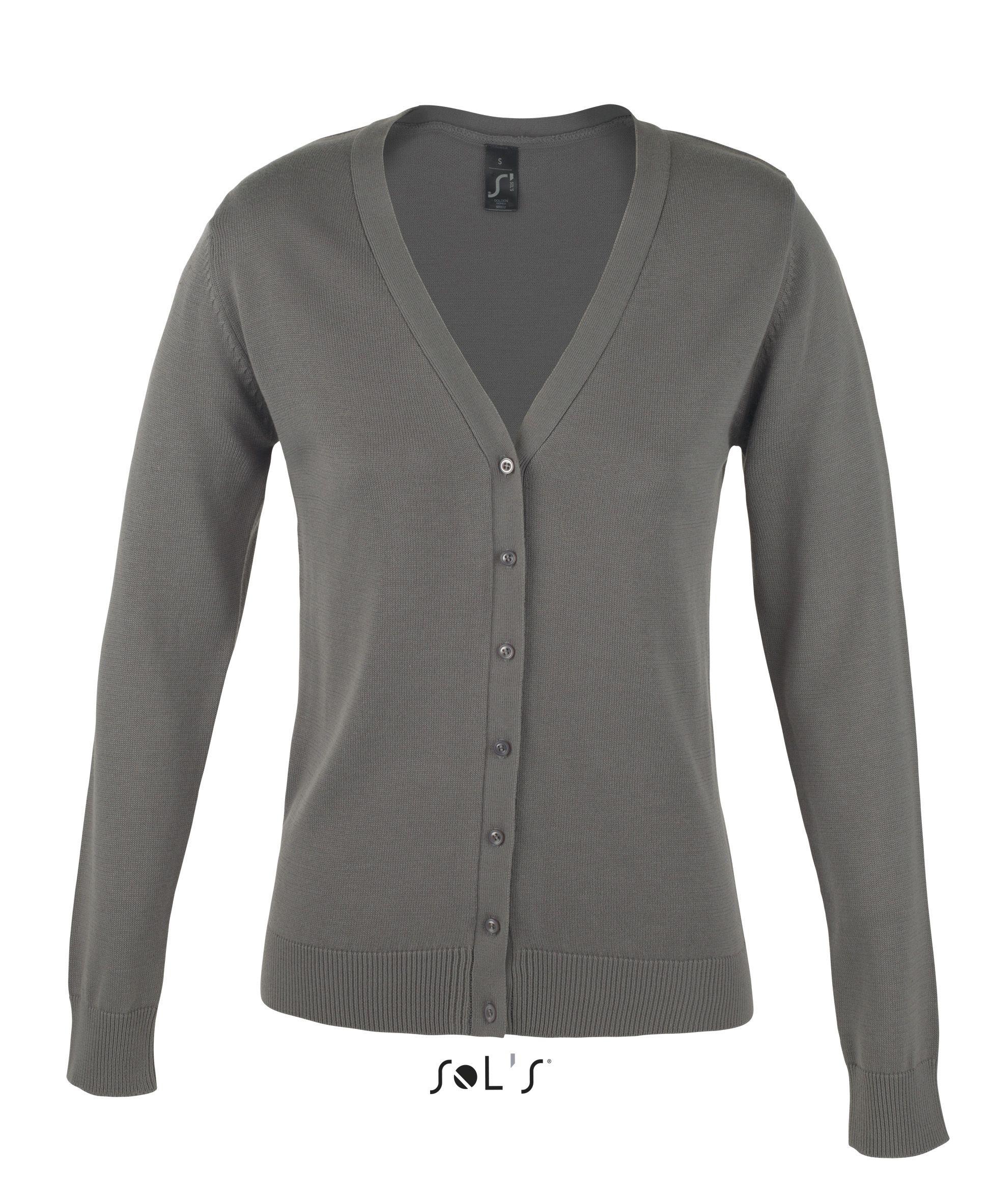 Sweter S 90012 Golden Women - 90012_medium grey_S - Kolor: Medium grey