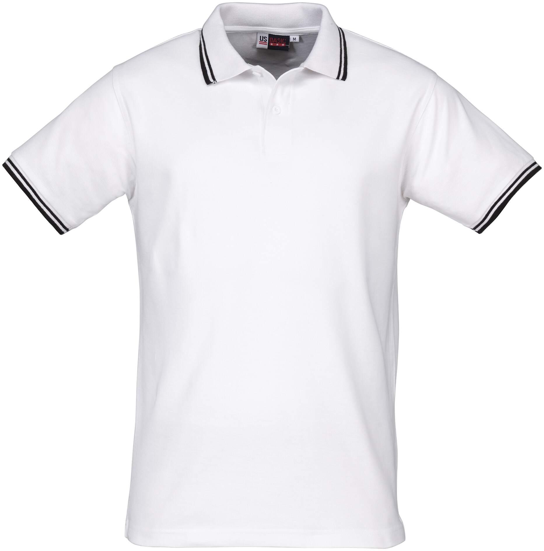 Koszulki Polo Lady US 31100 Erie - 31100_biały_czarny_US - Kolor: Biały / Czarny