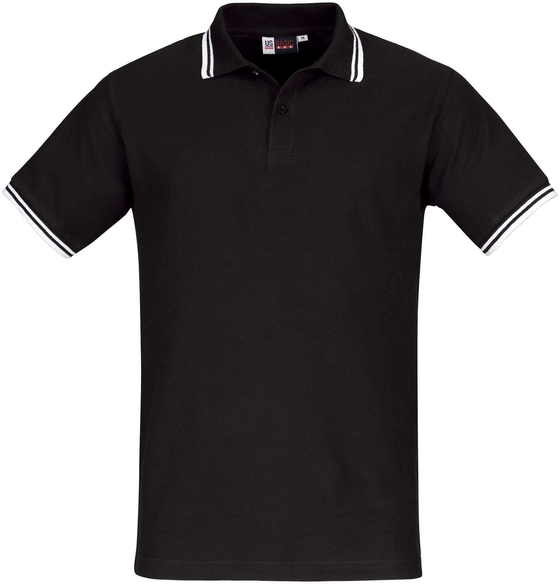 Koszulki Polo US 31099 Erie - 31099_czarny_biały_US - Kolor: Czarny / Biały