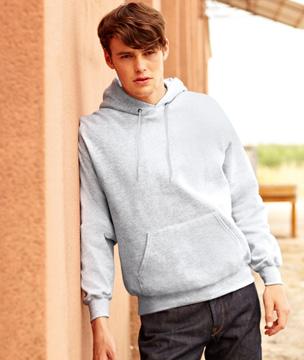 Bluza z kapturem FL - Hooded Sweat   - FL_ 62-208-0_heather grey - Kolor: Heather Grey