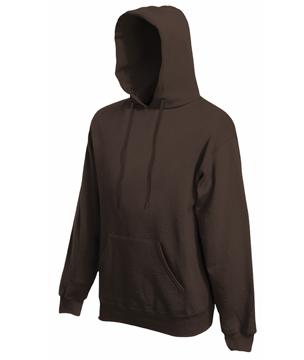 Bluza z kapturem FL - Hooded Sweat   - FL_ 62-208-0_czekoladowy - Kolor: Czekoladowy