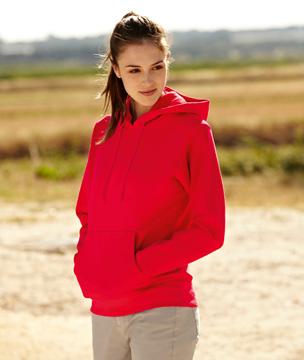 Bluza z kapturem FL 62-038-0 Lady Fit - FL_62-038-0_czerwony - Kolor: Czerwony