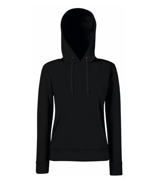 Bluza z kapturem FL 62-038-0 Lady Fit - FL_62-038-0_czarny - Kolor: Czarny