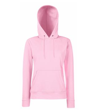 Bluza z kapturem FL 62-038-0 Lady Fit - FL_62-038-0_jasnoróżowy - Kolor: Różowy