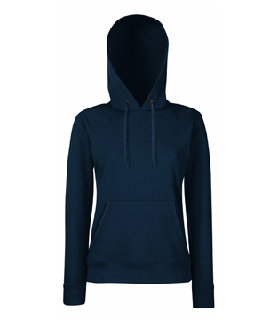 Bluza z kapturem FL 62-038-0 Lady Fit - FL_62-038-0_ciemnogranatowy - Kolor: Ciemnogranatowy