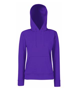 Bluza z kapturem FL 62-038-0 Lady Fit - FL_62-038-0_fioletowy - Kolor: Fiolet