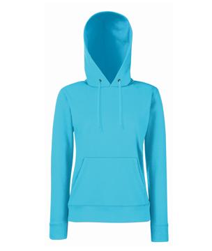 Bluza z kapturem FL 62-038-0 Lady Fit - FL_62-038-0_azurowy - Kolor: Azurowy
