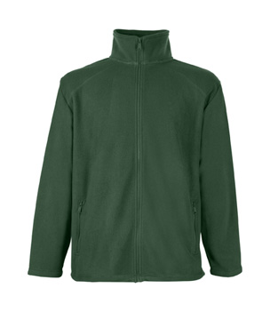 POLAR FL - 62-510-0  FULL ZIP FLEECE - FL_62-510-0_bottle green - Kolor: Bottle green