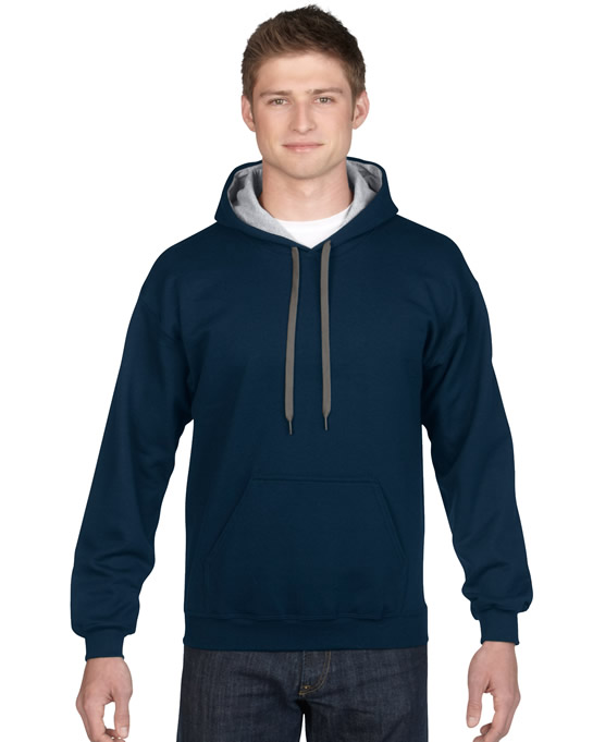 Bluza Heavy Blend Contrast Hooded Adult GILDAN 185C00 - Gildan_185C00_04 - Kolor: Navy / Sport grey