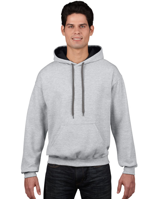 Bluza Heavy Blend Contrast Hooded Adult GILDAN 185C00 - Gildan_185C00_07 - Kolor: Sport grey / Black