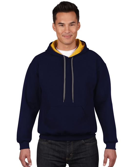 Bluza Heavy Blend Contrast Hooded Adult GILDAN 185C00 - Gildan_185C00_03 - Kolor: Navy / Gold yellow