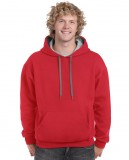 Bluza Heavy Blend Contrast Hooded Adult GILDAN 185C00 - Gildan_185C00_05 Red / Sport grey