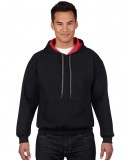 Bluza Heavy Blend Contrast Hooded Adult GILDAN 185C00 - Gildan_185C00_01 Black / Red