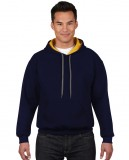 Bluza Heavy Blend Contrast Hooded Adult GILDAN 185C00 - Gildan_185C00_03 Navy / Gold yellow