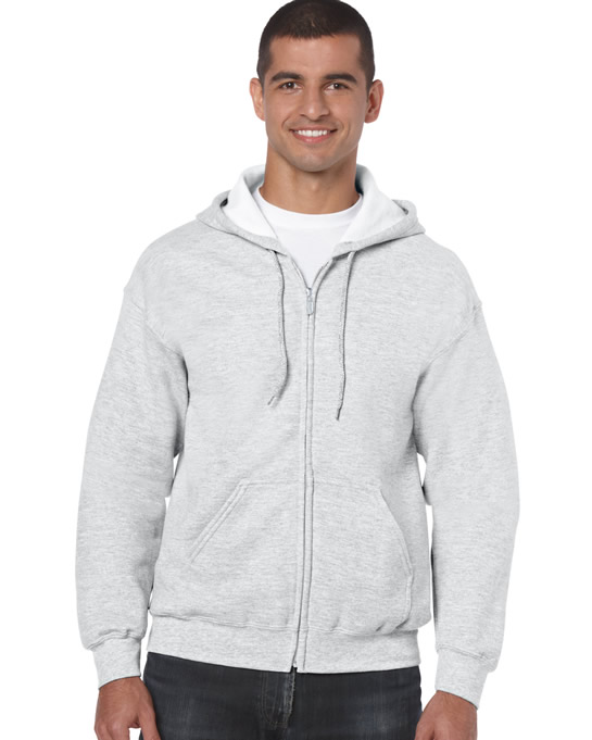 Bluza Heavy Blend Full Zip Hooded Adult GILDAN 18600 - Gildan_18600_01 - Kolor: Ash
