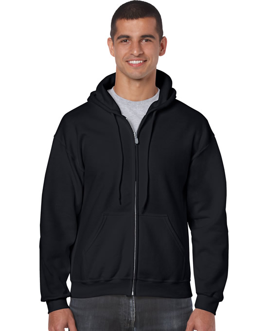 Bluza Heavy Blend Full Zip Hooded Adult GILDAN 18600 - Gildan_18600_02 - Kolor: Black