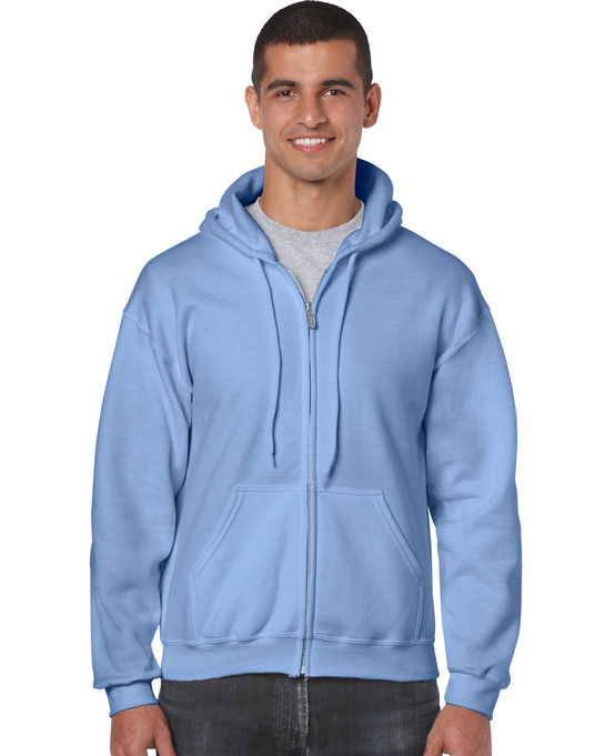 Bluza Heavy Blend Full Zip Hooded Adult GILDAN 18600 - Gildan_18600_03 - Kolor: Carolina blue