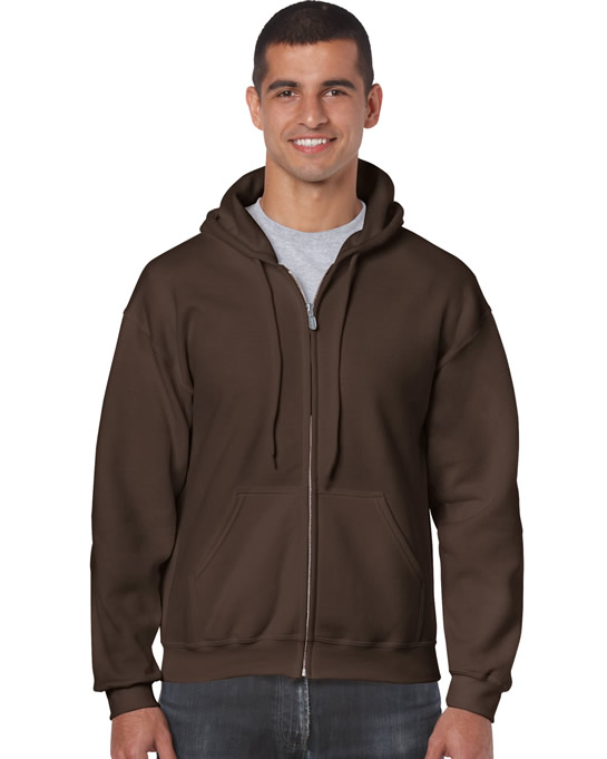 Bluza Heavy Blend Full Zip Hooded Adult GILDAN 18600 - Gildan_18600_04 - Kolor: Dark chocolate
