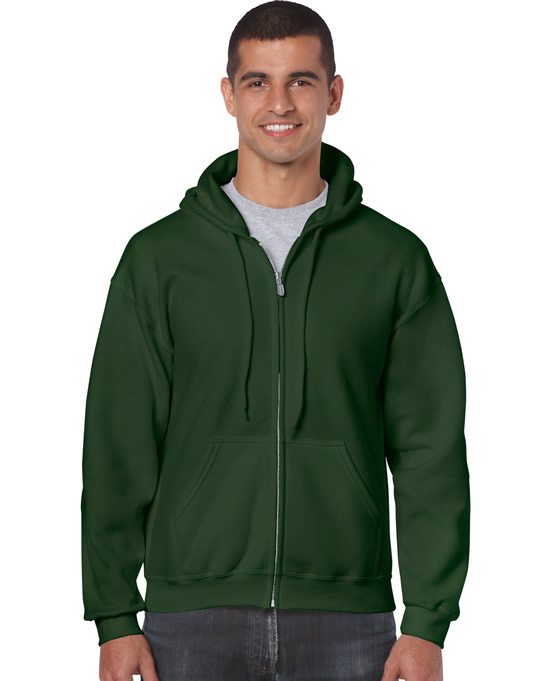 Bluza Heavy Blend Full Zip Hooded Adult GILDAN 18600 - Gildan_18600_05 - Kolor: Forest green