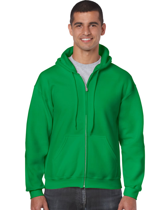Bluza Heavy Blend Full Zip Hooded Adult GILDAN 18600 - Gildan_18600_06 - Kolor: Irish green
