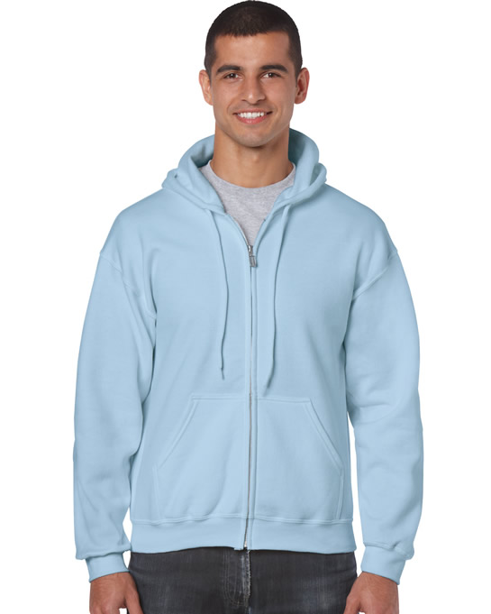 Bluza Heavy Blend Full Zip Hooded Adult GILDAN 18600 - Gildan_18600_07 - Kolor: Light blue