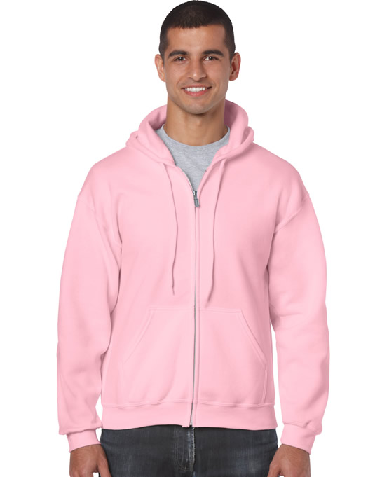 Bluza Heavy Blend Full Zip Hooded Adult GILDAN 18600 - Gildan_18600_08 - Kolor: Light pink