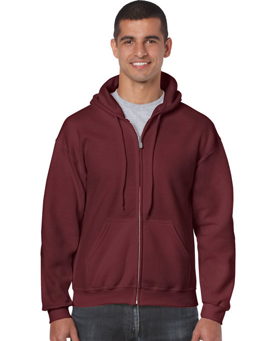 Bluza Heavy Blend Full Zip Hooded Adult GILDAN 18600 - Gildan_18600_09 - Kolor: Maroon