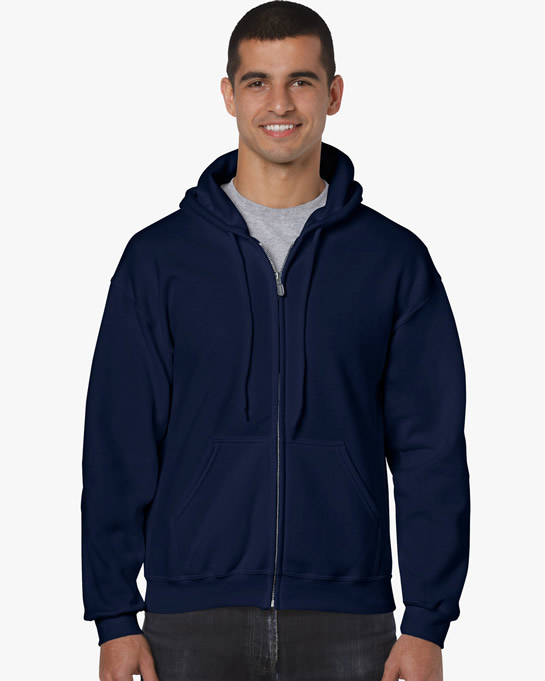 Bluza Heavy Blend Full Zip Hooded Adult GILDAN 18600 - Gildan_18600_10 - Kolor: Navy