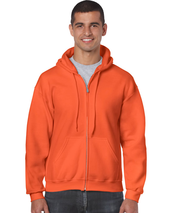 Bluza Heavy Blend Full Zip Hooded Adult GILDAN 18600 - Gildan_18600_11 - Kolor: Orange