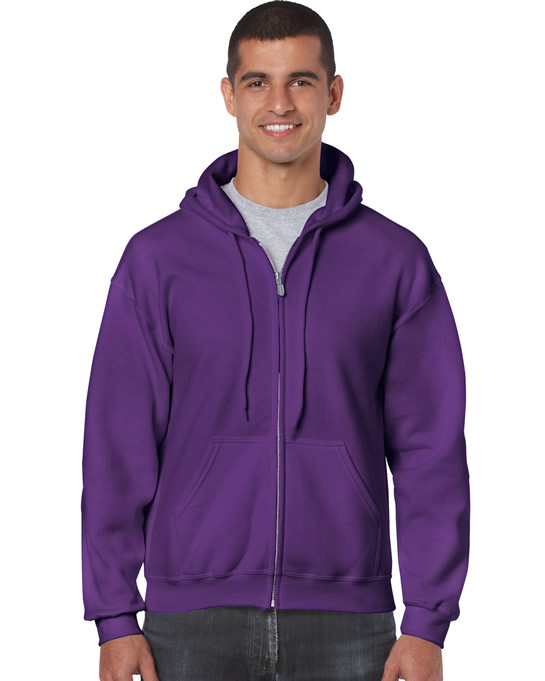 Bluza Heavy Blend Full Zip Hooded Adult GILDAN 18600 - Gildan_18600_12 - Kolor: Purple