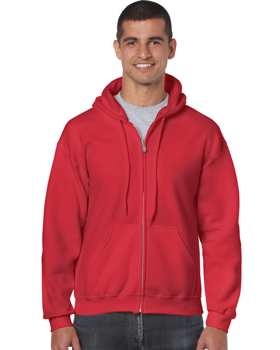 Bluza Heavy Blend Full Zip Hooded Adult GILDAN 18600 - Gildan_18600_13 - Kolor: Red